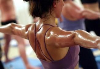 Students Practice The Unique Bikram Yoga