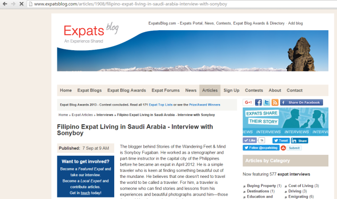 Expat Blog Interview