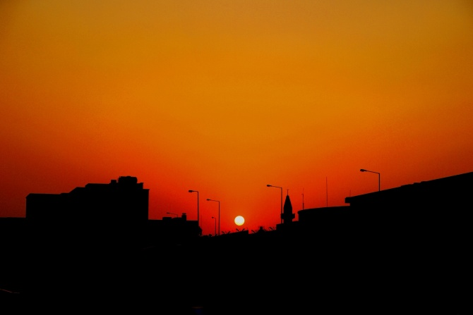 Sunrise in Riyadh City