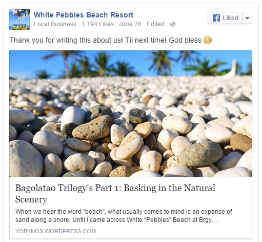 White Pebbles Beach Resort's Blurb
