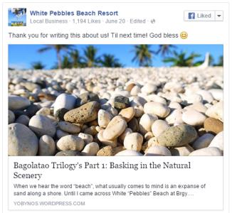 White Pebbles Beach Resort's Blurb