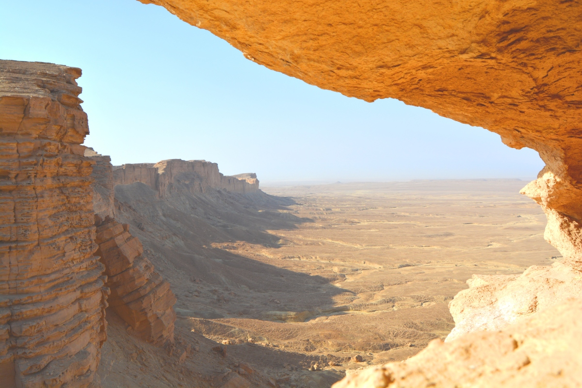 "On the Ledge of ""Edge of the World"" in Riyadh, Saudi Arabia"